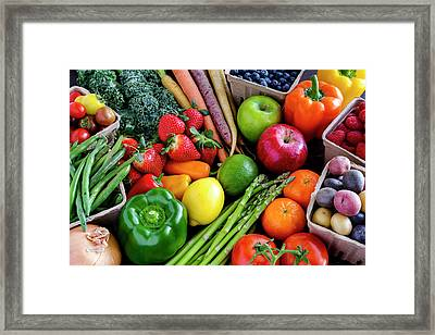 Fresh From The Farm Framed Print by Teri Virbickis