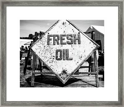 Fresh Oil Framed Print by April Ann Canada