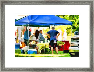 Fresh Organic Food At The Local Farmers Market Framed Print by Lanjee Chee