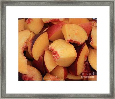 Fresh Peaches Framed Print by Carol Groenen