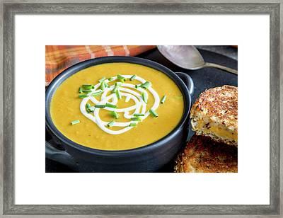 Fresh Pumpkin Soup Framed Print by Teri Virbickis