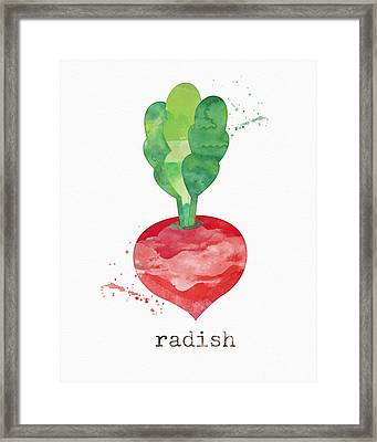 Fresh Radish Framed Print by Linda Woods