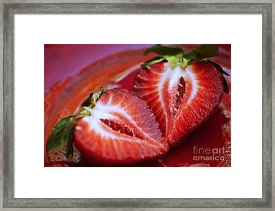 Fresh Strawberries Framed Print by Ray Laskowitz - Printscapes