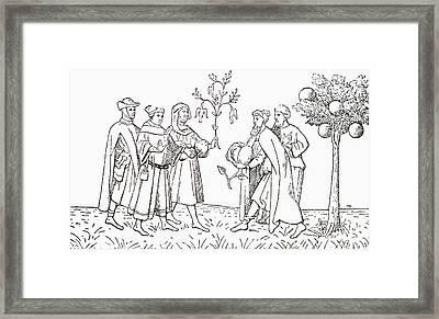 Friar Oderic Of Pordenone Holding Framed Print by Vintage Design Pics