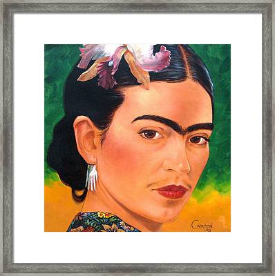 Frida Kahlo 2003 Framed Print by Jerrold Carton