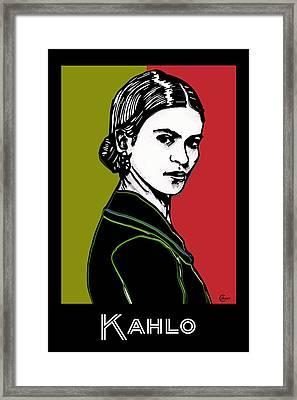 Frida Kahlo Portrait 1920s Framed Print by Cecely Bloom