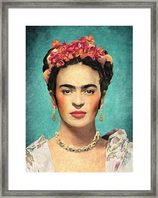 Frida Kahlo Framed Print by Taylan Apukovska