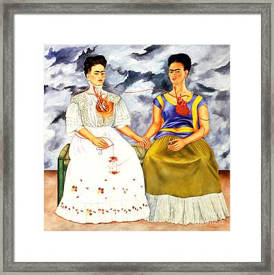 Frida Kahlo The Two Fridas Framed Print by Pg Reproductions