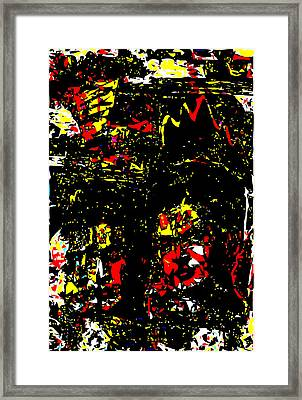 Frida Kahlos In Red Black And Yellow Framed Print by F Burton