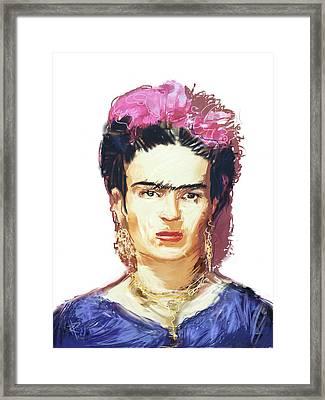 Frida Framed Print by Russell Pierce