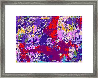 Fridas Repeated Framed Print by F Burton