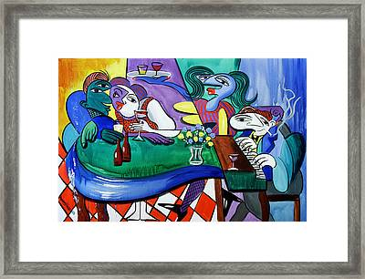 Fridays At Bernies Framed Print by Anthony Falbo
