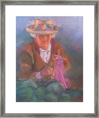 Fridays At The Farmer's Market Framed Print by Diane Caudle