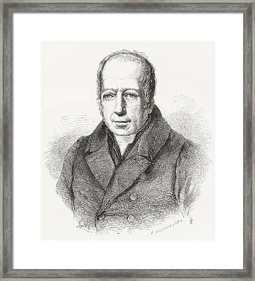 Friedrich Wilhelm Christian Karl Framed Print by Vintage Design Pics