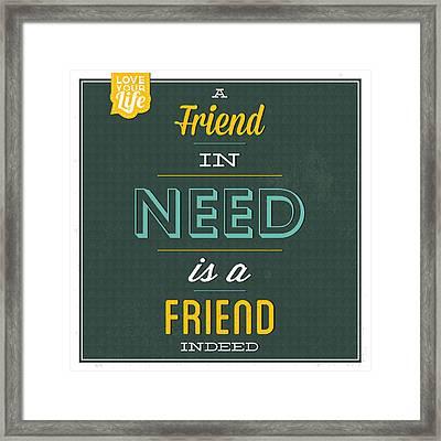 Friend Indeed Framed Print by Naxart Studio