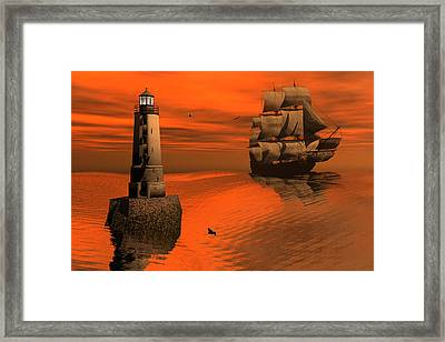 Friendly Beacon Framed Print by Claude McCoy