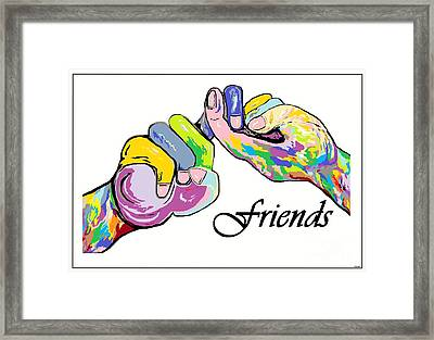 Friends . . . An American Sign Language Painting Framed Print by Eloise Schneider