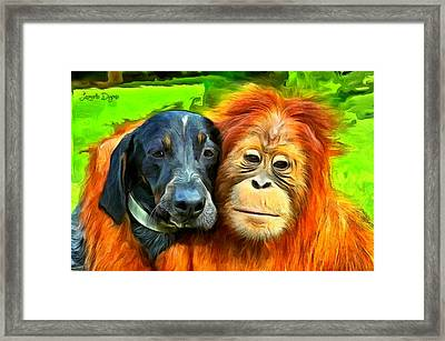 Friends - Da Framed Print by Leonardo Digenio