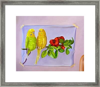 Friends On Flora Framed Print by Ellery Gutierrez