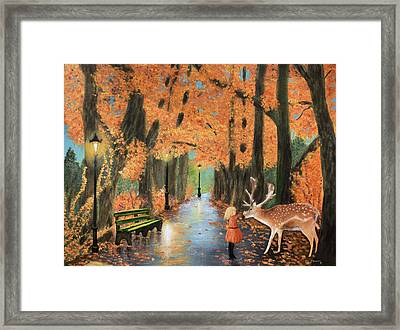 Friendship On A Lonely Road Framed Print by Ken Figurski