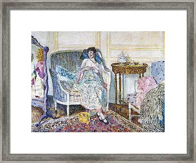 Frieseke: In The Boudoir Framed Print by Granger