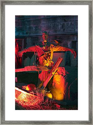 Frightful Fort Character Framed Print by Paul Wash