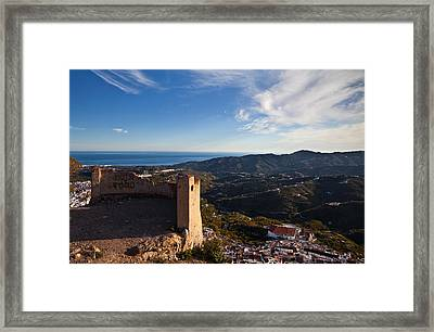 Frigiliana From El Fuerte De Framed Print by Panoramic Images