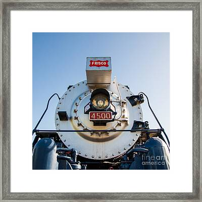 Frisco Meteor On Route 66 In Tulsa Oklahoma Framed Print by T Lowry Wilson