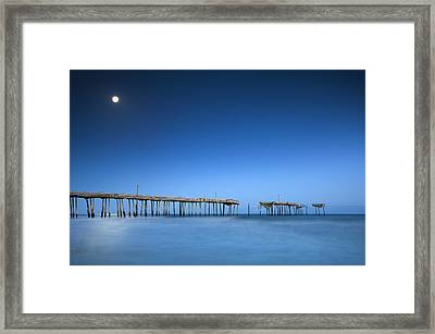 Frisco Pier Cape Hatteras Outer Banks Nc - Crossing Over Framed Print by Dave Allen