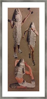 Frisk Som Ein Fisk Framed Print by Marte Kjoerstad