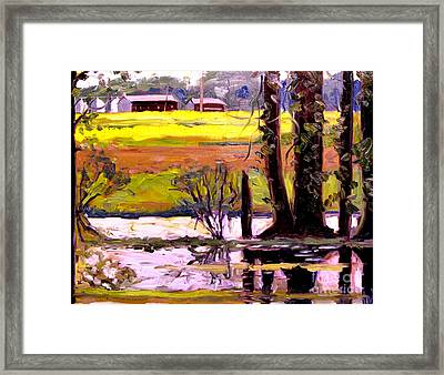 Frog Pong At Life Plein Air Framed Print by Charlie Spear
