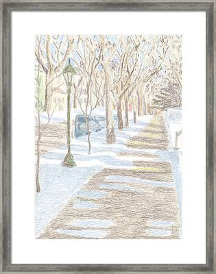 Frogtown In Winter Framed Print by Bethany Lee