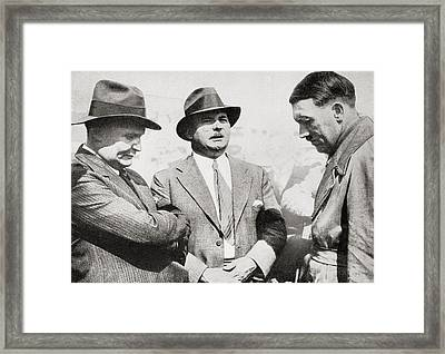 From Left To Right, Hermann Wilhelm G Framed Print by Vintage Design Pics