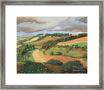 From Solsbury Hill Framed Print by Anna Teasdale