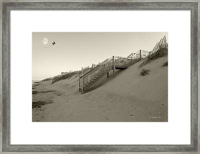 From The Dune To The Moon Framed Print by Brian Wallace