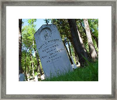 From The Grave Framed Print by Peter Piatt