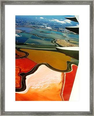 From The Plane I Framed Print by Elizabeth Hoskinson