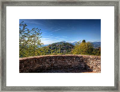 From The Top Of Bergamo Framed Print by Nico Trinkhaus