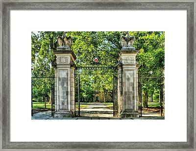 Front Gate At Princeton Universary  Framed Print by Geraldine Scull