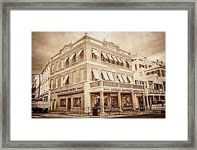 Front Street In Bermuda Framed Print by Charline Xia