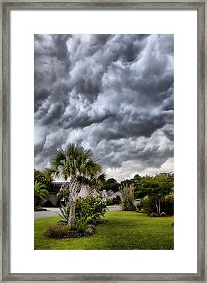 Frontal Clouds Framed Print by Dustin K Ryan