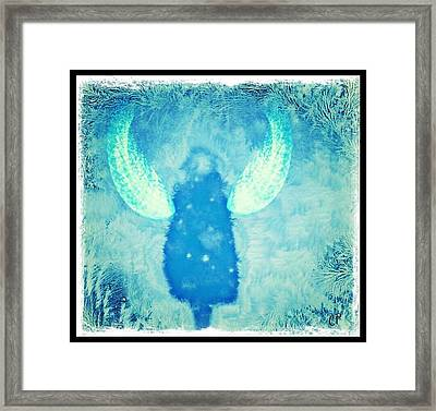 Frosted Angel Framed Print by Christine Paris