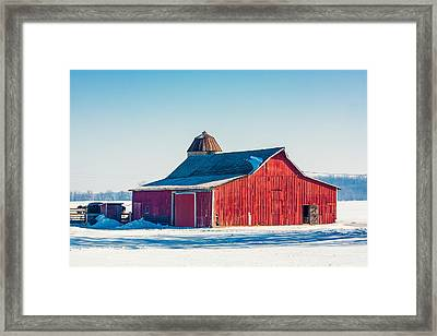 Frosty Farm Framed Print by Todd Klassy