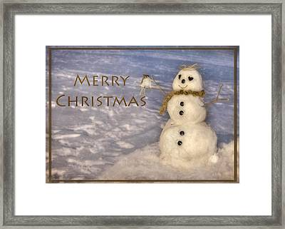 Frosty Merry Christmas Framed Print by Lori Deiter