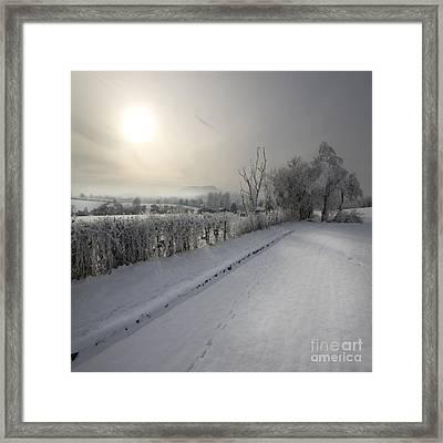Frozen Britain Framed Print by Angel  Tarantella