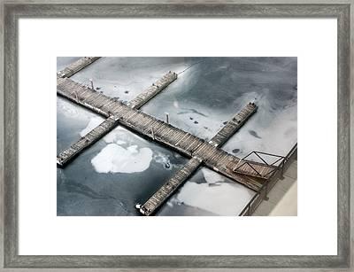 Frozen Docks Framed Print by Paul Wash