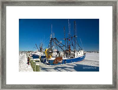 Frozen Hyannis Harbor Framed Print by Matt Suess