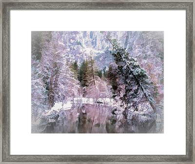 Frozen In Pink Framed Print by Susan Eileen Evans
