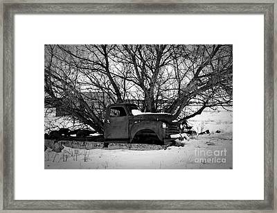 Frozen Memories Bw Framed Print by Chalet Roome-Rigdon