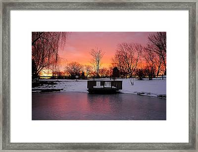Frozen Sunrise Framed Print by Frozen in Time Fine Art Photography